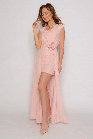 """Платье Тонкая полупрозрачна плательная ткань """"ниагара"""" с небольшим стрейчевым эффектом (немного тянется).  Состав: полиэстер 97%, эластан 3% Нарядное длинное платье в романтическом стиле с высоким раз"""
