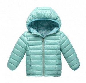 Демисезонная детская куртка, цвет голубой жемчуг