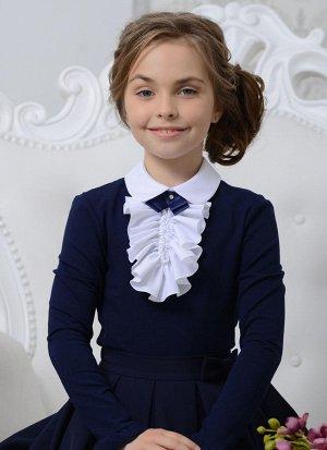 Блуза ТМ ГЕРМИОНА 05/синий хлопок 70%, п/э 26%, спандекс 4%