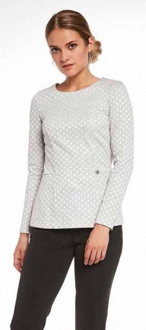Блуза Очень красивая серебристая! 55% хлопок 45 вискозы