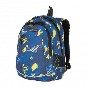 Рюкзак Для школы и состоит из основного отделения, которое закрывается на пластиковую молнию, а также накладного вместительного кармана для канцелярских принадлежностей. С обеих сторон рюкзака есть се