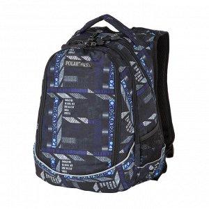 Рюкзак Для школы и состоит из двух основных отделений, которые закрываются на пластиковую молни. Впереди рюкзака имеется накладной вместительный карман для канцелярских принадлежностей. С обеих сторон