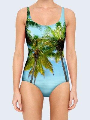 3D купальник Южные пальмы