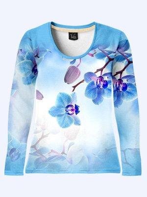 Лонгслив Голубые орхидеи