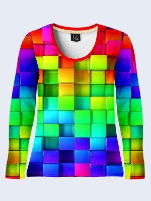 Лонгслив Разноцветные кубики