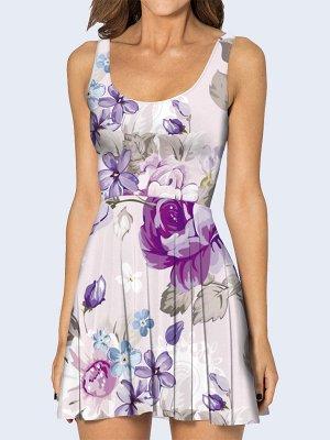3D платье Цветочная россыпь