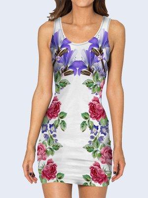 3D платье Цветочное изобилие