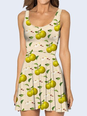 3D платье Зелёные яблочки