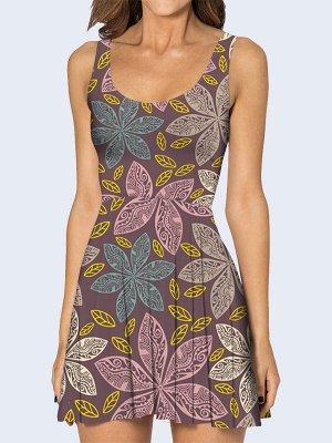 3D платье Цветочная роспись