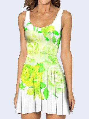 3D платье Зелёные розы