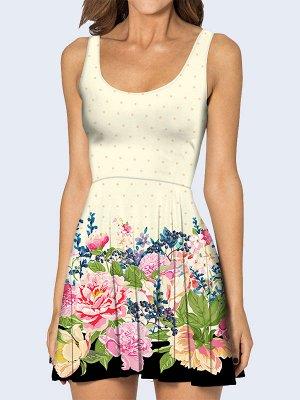 3D платье Цветочная полянка