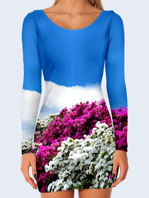 3D платье Цветочная поляна