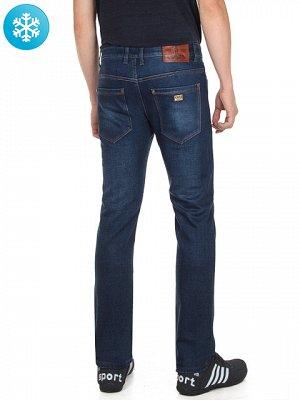 джинсы мужские темно синие прямые утепленные