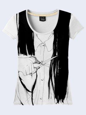3D футболка Длинные волосы