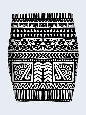 Юбка Черно-белый орнамент