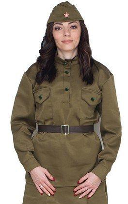 Военная форма взрослая Гимнастерка женская размер 52-54