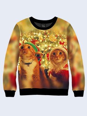 Свитшот Новогодние рыжие коты
