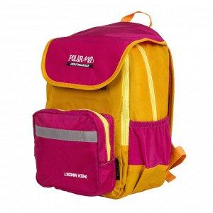 Рюкзак Детский городской рюкзак Polar выполнен из полиэстера. Рюкзак имеет 2 отделения: основное отделение с карманом на резинке и среднее отделение с двумя карманами из сетки . Отделения закрываются
