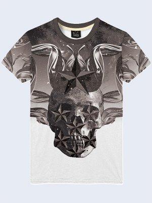 3D футболка Череп и звёзды