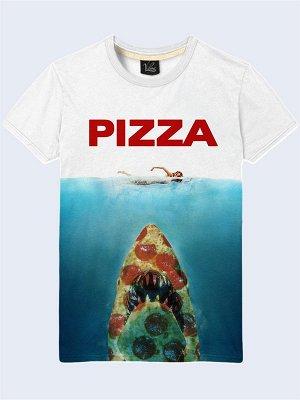 3D футболка Акула из пиццы