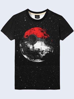 3D футболка Покебол Звезда Смерти