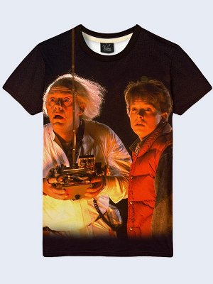 3D футболка Назад в будущее Марти и Док