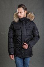 Мужская зимняя куртка Hermzi, цвет цвет Black ЧЕРНЫЙ