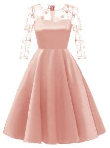 Платье с рукавами средней длины Цвет: РОЗОВЫЙ