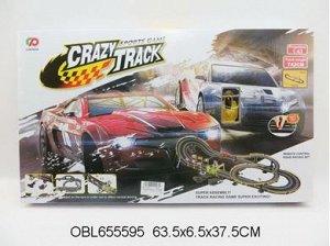 "8228 а/трек на бат+машинка ""CRAZY TRACK"", в коробке 555957"