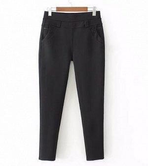 брюки чёрные48 -46 размер  стрэйч  ОБ104  ОТ82  в нерастянутом состоянии на