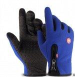 Спортивные перчатки противоскользящие утепленные, для сенорного экрана