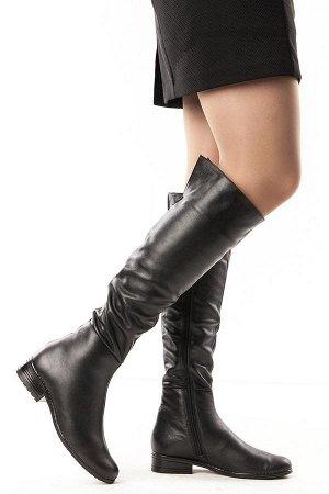 Ботфорты Тип: Ботфорты на худую ногу Материал верха: натуральная кожа Подошва - ТЭП  Байка  Объем голенища 36 см в 36/37 размере, 37 см в 38/39 размере, 38 в 40/41 размере. Объем голенища указан без у