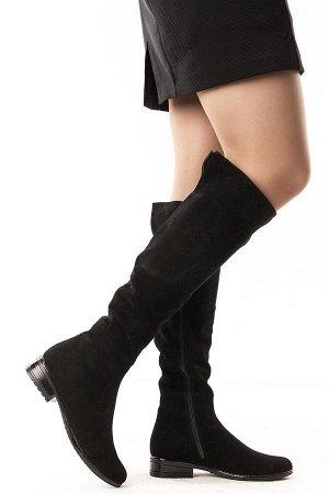 Ботфорты Тип: Ботфорты на худую ногу Материал верха: натуральный велюр Подошва - ТЭП  Байка  Объем голенища 36 см в 36/37 размере, 37 см в 38/39 размере, 38 в 40/41 размере. Объем голенища указан без