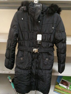 Пуховик зимний черный