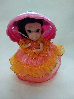 Девочка-кексик в оранжевой юбке без запаха