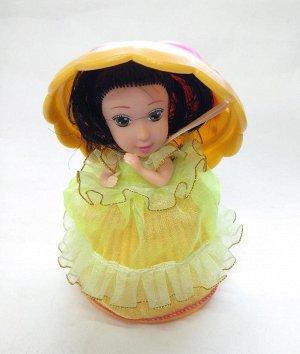 Девочка-кексик в зеленой юбке без запаха