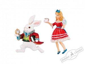 Алиса/Белый Кролик, асс. из 2-х 6,5х11 см