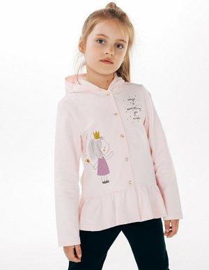Куртка с капюшоном для девочек розовый