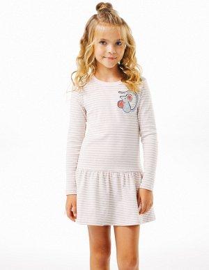 Платье для девочексеро розовая