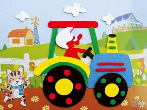 Трактор Размер 17*12,5 см.