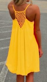 Пляжное платье на бретелях цвет: ЖЕЛТЫЙ