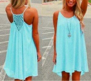 Пляжное платье на бретелях цвет: СВЕТЛО-СИНИЙ