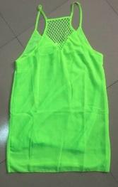 Пляжное платье на бретелях цвет: ЛЮМИНЕСЦЕНТНО-ЗЕЛЕНЫЙ