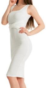 Обтягивающее платье без рукавов средней длины цвет: БЕЛЫЙ
