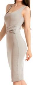 Обтягивающее платье без рукавов средней длины цвет: СЕРЫЙ