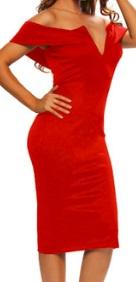Платье-футляр с глубоким декольте цвет: КРАСНЫЙ