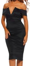 Платье-футляр с глубоким декольте цвет: ЧЕРНЫЙ