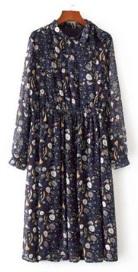 Платье-макси с длинным рукавом цвет: НА ФОТО