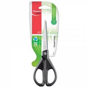 """Ножницы MAPED (Франция) """"Essential Green"""", 170мм, черные, ка"""