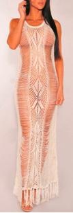 Откровенное платье в пол без рукавов цвет: БЕЛЫЙ